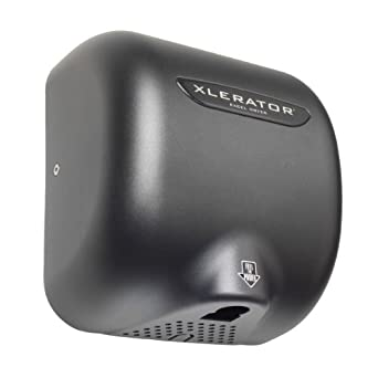 "XLERATOR XL-GR Automatic Surface-Mounted Hand Dryer with Graphite Cover, 12-11/16"" Height x 11-3/4"" Width x 6-11/16"" Depth"