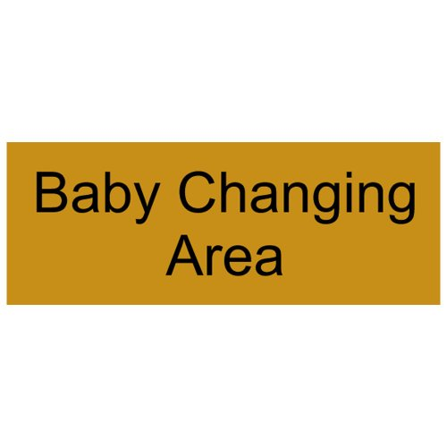 Compliancesigns Engraved Plastic Unisex / Family / Assisted Sign, 8 X 3 Gold