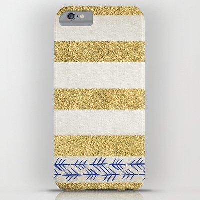 society6(ソサエティシックス) iPhone6 Plus(5.5インチ)ケースゴールドストライプ Gold Stripes並行輸入品