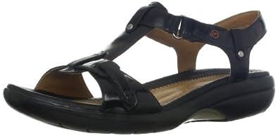 Clarks Women's Shade Sandal,Black Patent,5 M US