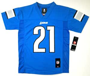 NFL Reggie Bush Detroit Lions Football Youth Size Jersey Blue (Youth Medium Size 10-12)