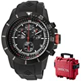 Invicta Men's 11747BYB Pro-Diver Chronograph Black Dial Black Polyurethane Watch