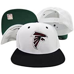 Atlanta Falcons White Black Two Tone Snapback Adjustable Plastic Snap Back Hat Cap by Reebok