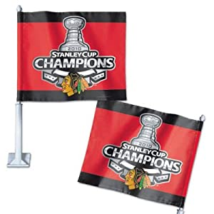 Chicago Blackhawks 2010 Stanley Cup Champions Car Flag Official NHL Merchandise