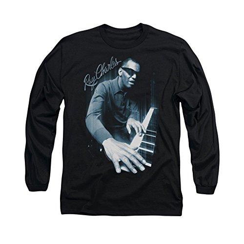 Blues Piano -- Ray Charles Adult Long-Sleeve T-Shirt, XX-Large