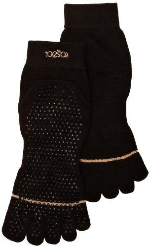 Toesox Full Toe with Grip Yoga/Pilates Toe Socks