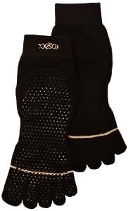 Yoga-Mad Chaussettes à orteils séparés Noir M