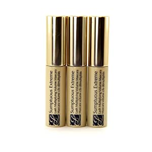 Estee Lauder Sumptuous Extreme Lash Multiplying Volume Mascara #01 Extreme Black 2.8 ml Travel Size (pack of 3, 0.3 oz / 8.4 ml total)