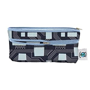 Planet Wise Travel Wet/Dry Bag, Organic Navy Circuits