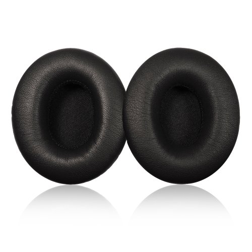 Black Replacement Earpad Cushions For Monster Beats By Dr. Dre Solo & Solo Hd Headphone