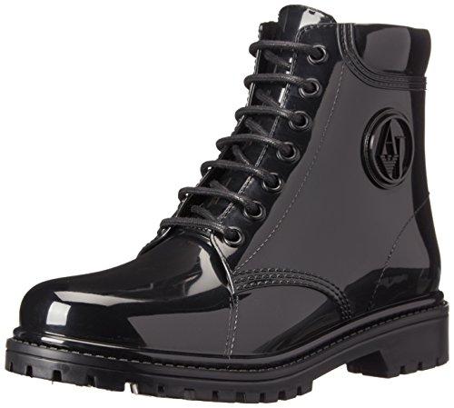 Armani Jeans Shoes & Bags DE B55K449, Stivaletti in gomma non imbottiti donna, Nero (Schwarz (NERO - BLACK)), 39
