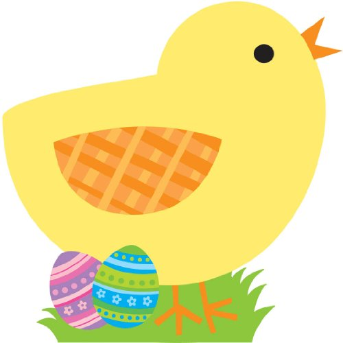 Easter Chick with Eggs Cutout 13in