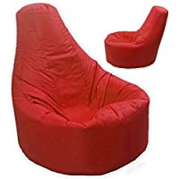 Large Bean Bag Gamer Recliner Outdoor And Indoor Adult Gaming XXL Red - Beanbag Seat Chair (Water And Weather Resistant) by MaxiBean