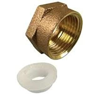 "Danco 80138 Ballcock Coupling Nuts 7/8"" Brass"