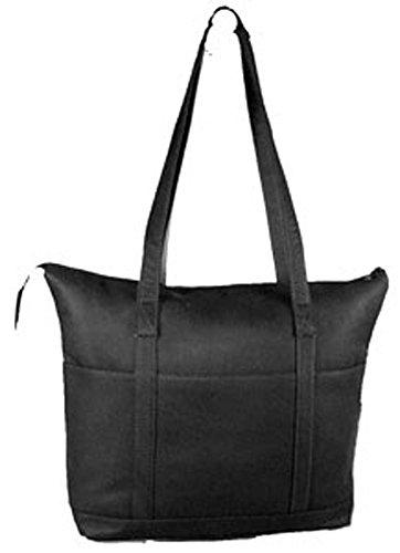 david-king-co-large-multi-pocket-shopping-tote-583-black-one-size