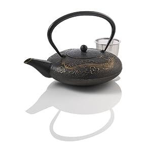 Teavana imperial dragon cast iron 44oz black - Cast iron dragon teapot ...