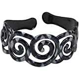 Black & White 2 Inch Curly Swirl Wide Headband (Motique Accessories) By Motique Accessories