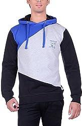 RGT Men's Fleece Regular Fit Sweatshirts (RGT7009BLACK-XXL)
