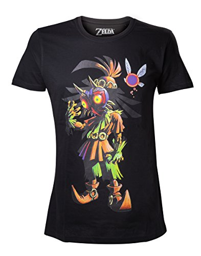 Legend of Zelda Nintendo Legend Of Zelda Men's Skull Kid Majoras Mask T-shir-T-shirt  Uomo    nero Medium