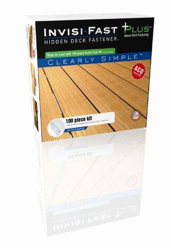Cepco Tool IF-PL100 Invisi-Fast Plus Hidden Deck Fastener 100-Piece kit with ACQ screws