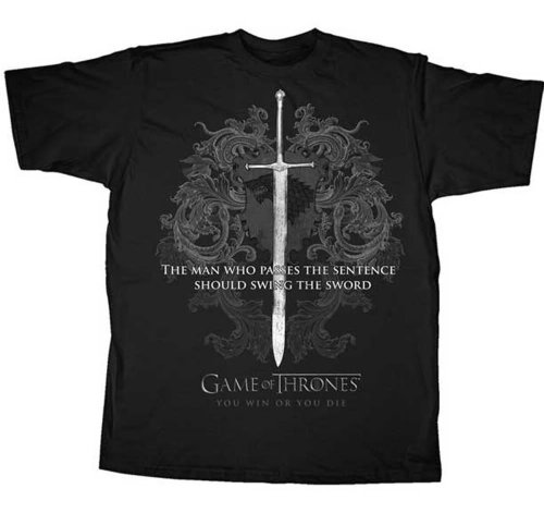 Game Of Throne Hbo Almighty Sword T-Shirt, S