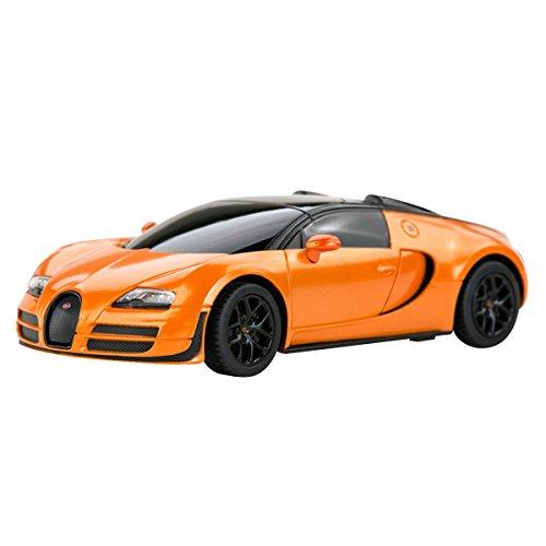 YESURPRISE Modellauto Rastar Spielauto Fernbedienung Auto Car Modell R/C 1:24 Bugatti Grand Sport Vitesse 47000 Orange Car Model