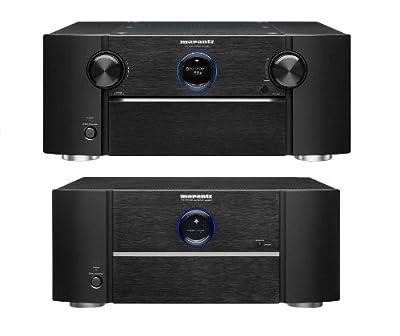 Marantz AV8801 11.2 Ch AV Pre-Amplifier and MM8077 7 Ch Power Amplifier Bundle from Marantz