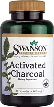 Отзывы Activated Charcoal 260 mg 120 Caps by Swanson Premium