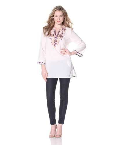 KAS New York Women's Embroidered Tunic