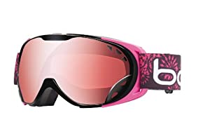 Bolle Women's Duchess Goggle with Vermillon Gun Lens - Black/Pink, Small/Medium