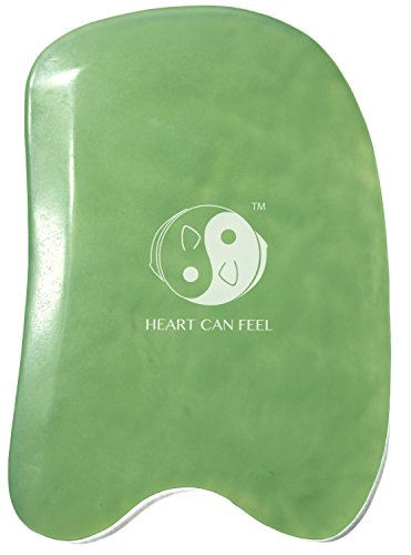 BEST Jade Gua Sha Scraping Massage Tool + Highest Quality Hand Made Jade Guasha Board Available -On Sale- EACH IS UNIQUE & BEAUTIFUL!GREAT Tools for Graston SPA Acupuncture Therapy Trigger Point Treatment on Face [Square] (Myofascial Release Tools compare prices)