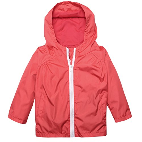 Arshiner Little Kid Waterproof Hooded Coat Jacket Outwear Raincoat,Red,Size 100 (Rain Jacket Toddler compare prices)