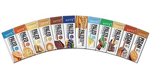 Paleo-Protein-Bars-Ultimate-Variety-Box-12-Flavors-20g-Protein-12-Bars-wPrebiotics-Low-Net-Carb-Gluten-Free