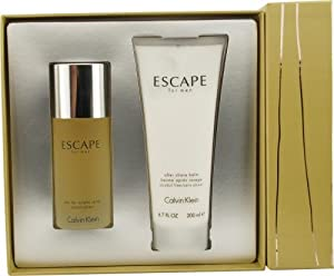 Escape By Calvin Klein For Men Edt Spray 3.4 Oz & Aftershave Balm 6.7 Oz