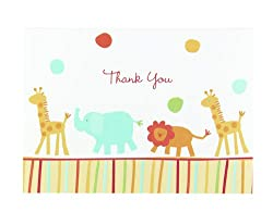 Hortense B. Hewitt Jungle Animals Thank You Cards, Set of 25 by Sourced Wit