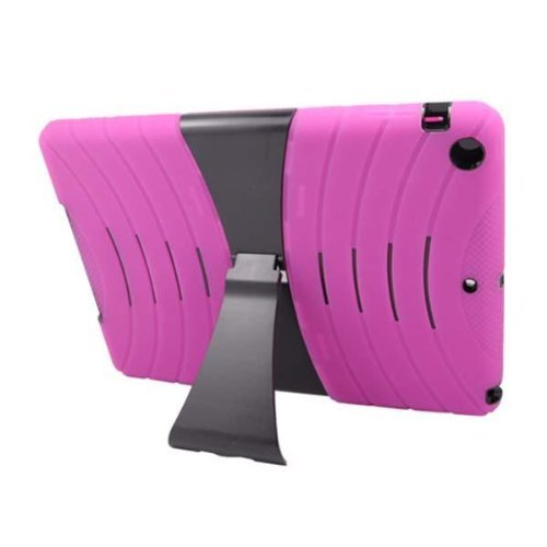 Review:  Noarks Hybrid Armor Protective Case Cover with Kick Stand for iPad Air / iPad 5 (iPad Air, Hot Pink/Black)