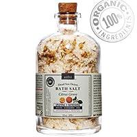 Organic Bath Salt - Therapeutic Dead Sea Mineral Soak - Citrus 13oz from Antho Organic