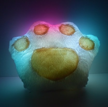 Light up Glow Couch Paw Pillow