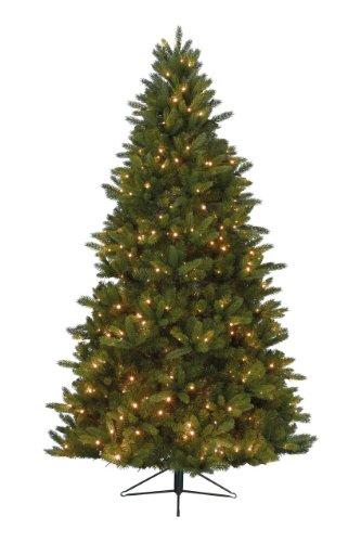 Kaemingk 678462 Bergen Spruce, Fichte aus PE - PVC Nadel Mix, innen, Innentrafo, 394 warmweiße LED, 210 cm thumbnail