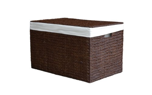 Medium Avebury Mocha Rattan Wicker Water Hyacinth Storage Trunk / Basket / Toy Box