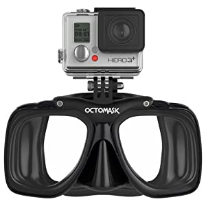 Buy GoPro Hero 3+ Compatible Scuba Mask (Black) - for Diving with GoPro® Hero3 Black, Silver, and White Accessory by OCTOMASK