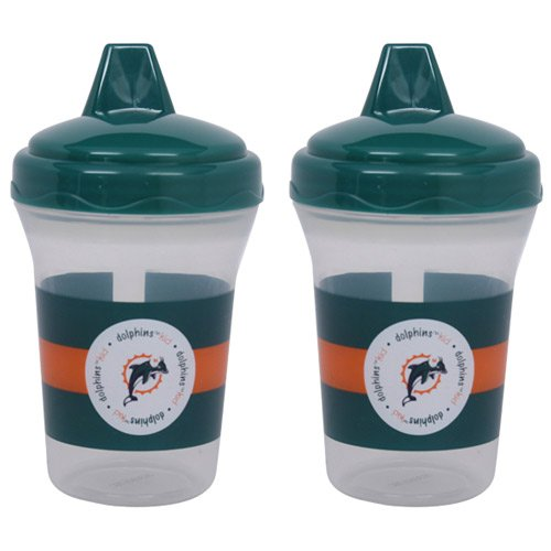 Baby Fanatic Nfl Miami Dolphins Baby Fanatic 2-Pack Sippy Cups back-987544