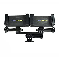 Livestream Gear® - Dual Device Tripod Attachment Setup for Live Streaming, Video Recording, Etc. (2 Device Holder)