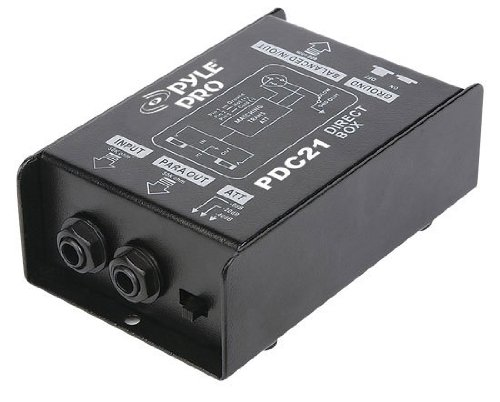 Pyle-Pro PDC21 1/4'' Instrument To Balanced & Unbalanced (1/4''/XLR) Direct Box