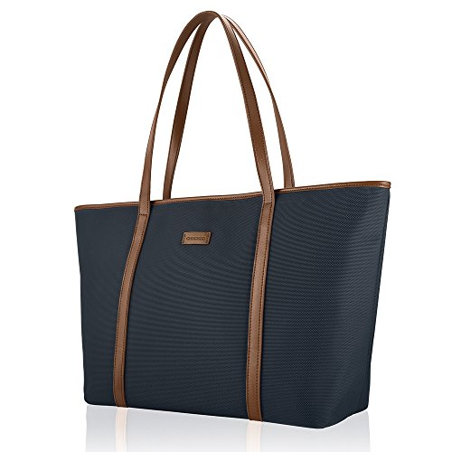 chiceco-basic-large-travel-tote-shoulder-bag-for-women-blue-brown