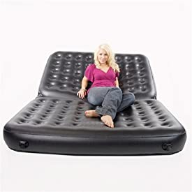 Air-o-space Beds Queen Sized 5 X 1 Inflatable Sofa Bed, Black