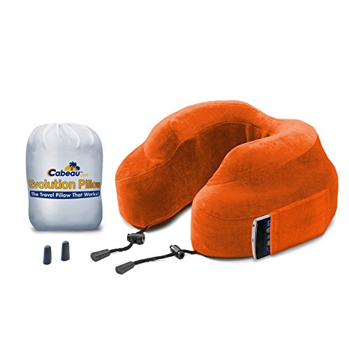 "Cabeau Memory Foam ""Evolution Pillow"" + Small Bag - It Actually Works! - Orange front-152743"