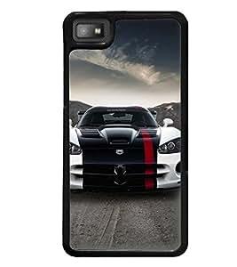 Printvisa Stylish Tricoloured Convertible Car Back Case Cover for Blackberry Z10