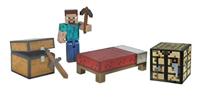 2 X Minecraft Core Player Survival Pack Action Figure from Jazwares Domestic