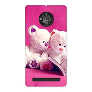 Gorgeous Twin Teddy Multicolor Back Case Cover for Yu Yuphoria